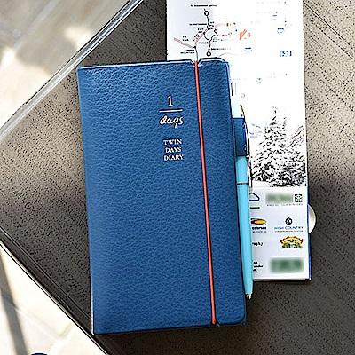 PLEPIC 雙面票卡名片收納多功筆記本-皇家藍