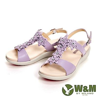 W&M 輕量彈力花鑽增高涼鞋 女鞋-花鑽紫(另有花鑽黃)