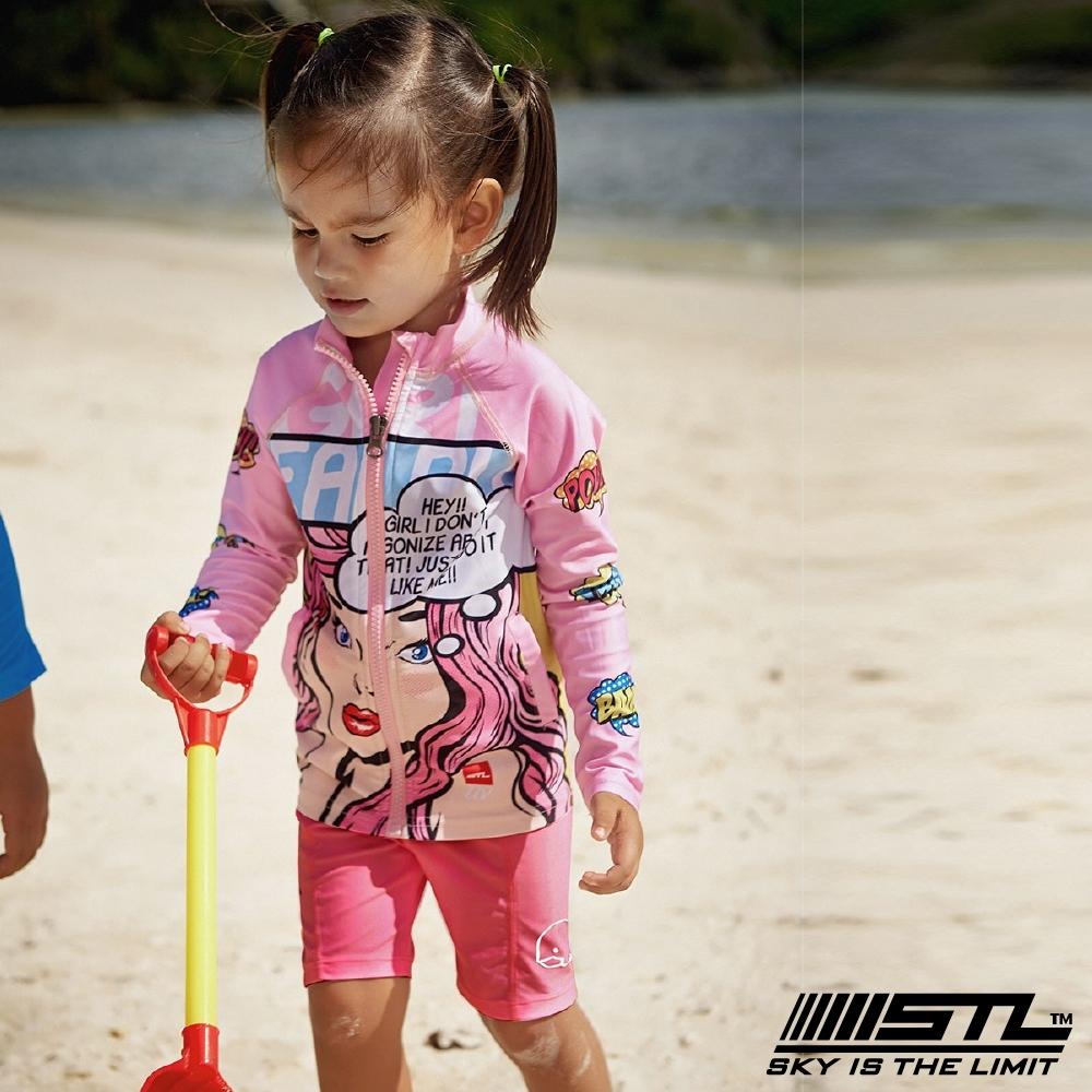 STL kids 兒童 韓國 海灘/海邊 機能運動戶外 5分水母褲 桃粉