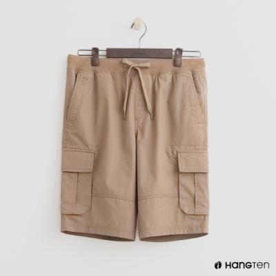 Hang Ten - 男裝 - 綁帶造型口袋棉質短褲-咖啡
