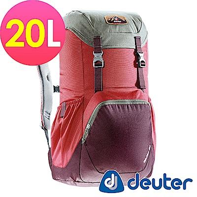 【ATUNAS 歐都納】德國DEUTER WALKER休閒旅遊背包3810617紅/紫紅