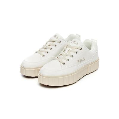 FILA SAND BLAST LOW 厚底餅乾運動鞋-米白 4-C625V-920