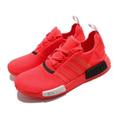adidas 休閒鞋 NMD R1 襪套式 女鞋 海外限定 愛迪達 三葉草 緩震 Boost 紅 黑 EF4267
