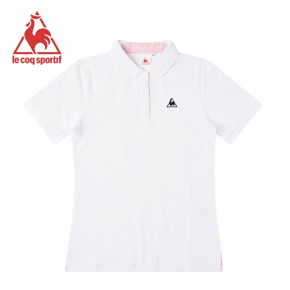 le coq sportif法國公雞牌短袖POLO衫 女-白