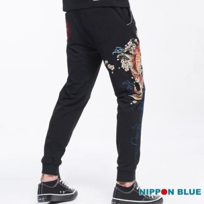 日本藍  BLUE WAY  - 日本藍櫻花鯉針織長褲