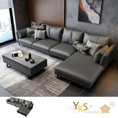 YKS-愛曼達L型布沙發-獨立筒版(兩色可選)