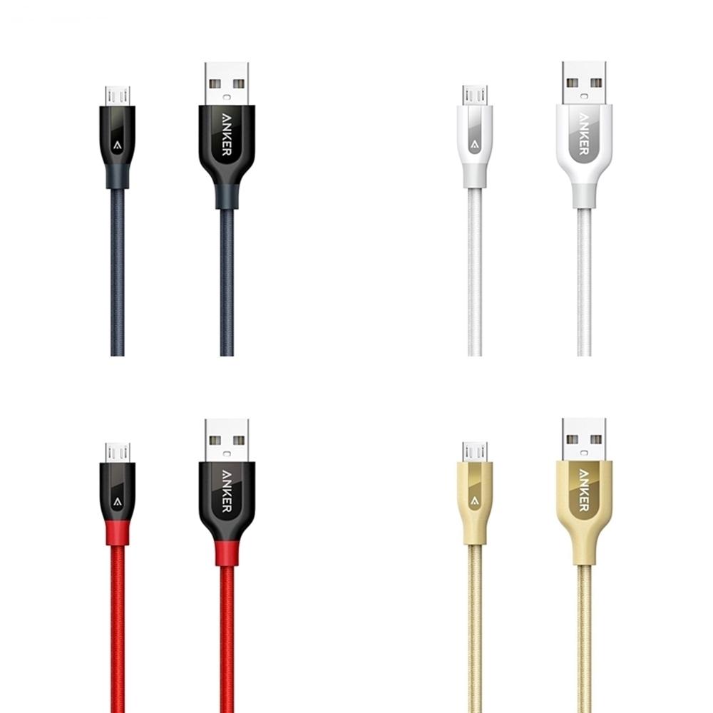 美國Anker充電傳輸線PowerLine+ Micro USB A81410系列