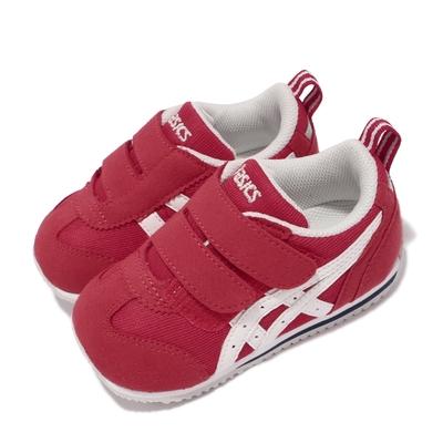 Asics 休閒鞋 Idaho Baby JP 童鞋 亞瑟士 魔鬼氈 麂皮 日本布料 小童 紅 白 TUB164600