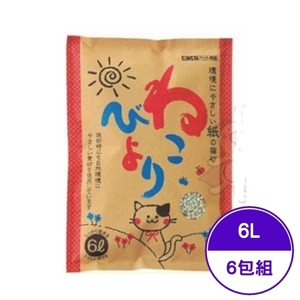 日本BONBI環保紙貓砂-無香味 6L (BO70860) (6包組)