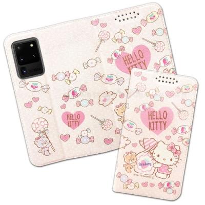 三麗鷗授權 Hello Kitty貓 三星 Samsung Galaxy S20 Ultra 粉嫩系列彩繪磁力皮套(軟糖)