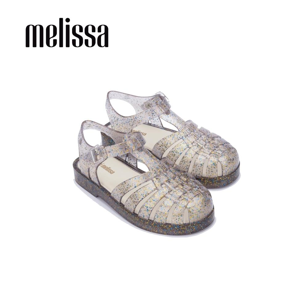 Melissa 閃耀果凍漁夫鞋 兒童款 閃耀灰