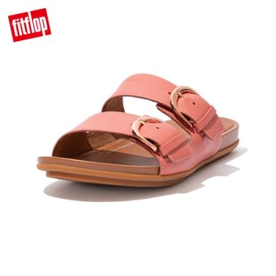 FitFlop GRACCIE SLIDES 皮革雙帶涼鞋 女(柔和粉)
