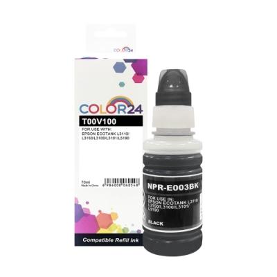 Color24 for Epson T00V100/70ml 黑色相容連供墨水