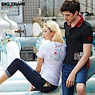 BigTrain 繡花標配色POLO衫-男-黑色