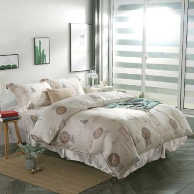 夢工場辛巴之萌40支紗萊賽爾天絲四件式鋪錦床罩組-雙人
