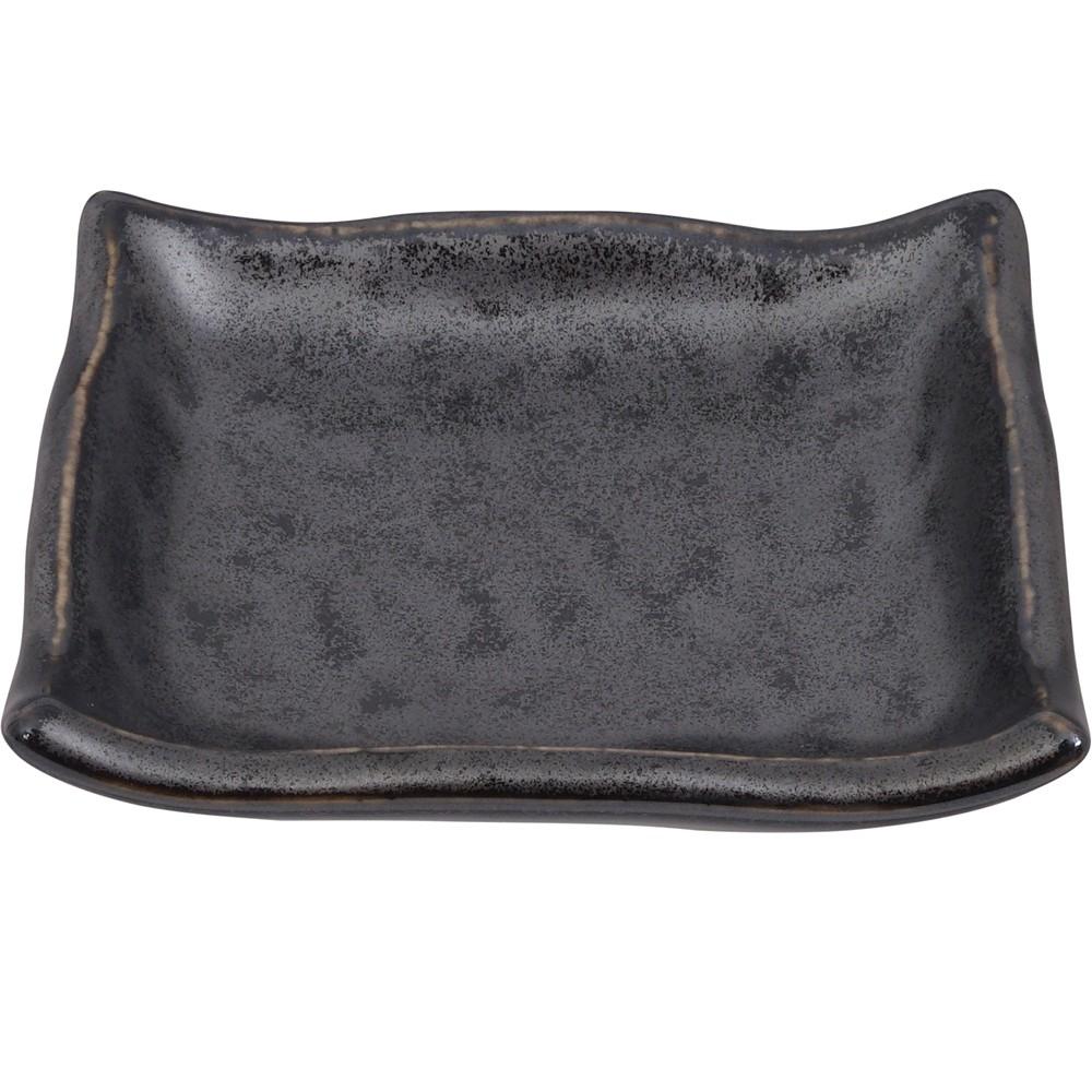 《Tokyo Design》方形瓷製醬料碟(鐵黑9cm)
