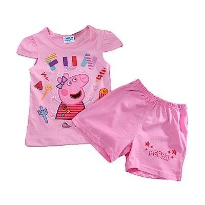 粉紅豬佩佩純棉短袖套裝 k51146 魔法Baby