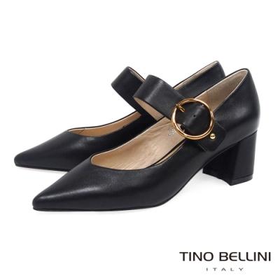 Tino Bellini典雅復古瑪莉珍跟鞋_黑