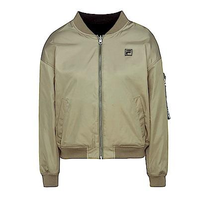FILA #東京企劃-原宿篇 女款雙面穿飛行夾克-灰綠 5JKS-5447-OV