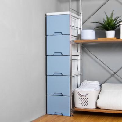 HOUSE 台灣製造 舞動漸層五層抽屜式收納櫃-隙縫櫃 三色可選