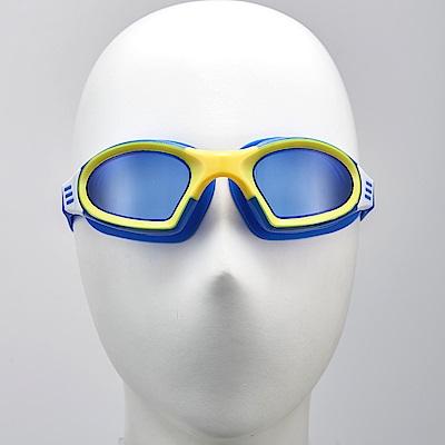 聖手牌 泳鏡 後扣式頭帶寶藍平光防霧泳鏡