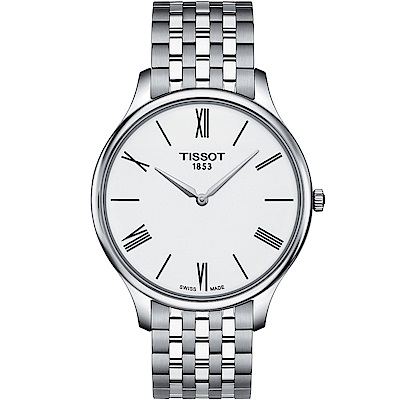 TISSOT T-TRADITION超薄紳士石英錶(T0634091101800)40mm