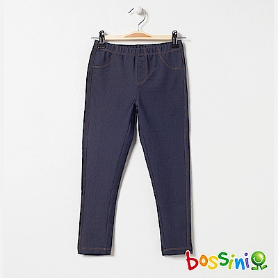 bossini女童-印花針織貼身褲03靛藍