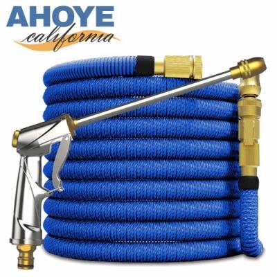 AHOYE 安全防爆伸縮高壓水管8M(細柱噴射+花灑)8段可調 水槍