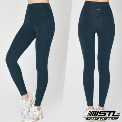 STL yoga Pure Perfect legging 9分 韓國『超高腰』純粹完美 運動機能壓力訓練緊身褲 午夜藍綠