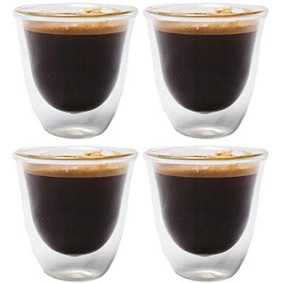 CreativeTops Cafetiere雙層玻璃濃縮咖啡杯4入(60ml)