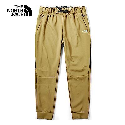 The North Face北面男款卡其色透氣舒適長褲|46HDD9V