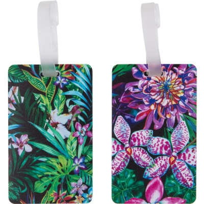 《TRAVELON》行李掛牌2件(熱帶花卉)