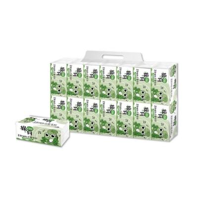 [單抽0.068]綠荷柔韌抽取式花紋衛生紙100抽X112包/箱