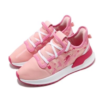 adidas 休閒鞋 U Path Run 襪套式 女鞋 愛迪達 三葉草 避震 緩衝 大童 粉 紅 FV1822