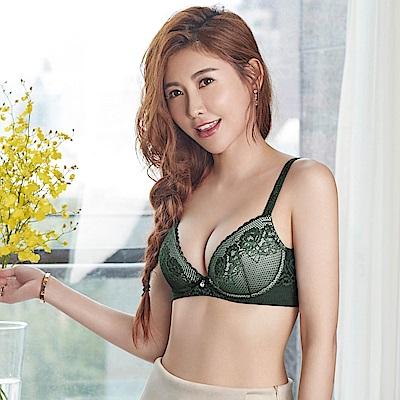 瑪登瑪朵 無鋼圈內衣  D-F罩杯(深邃綠)