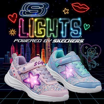 SKECHERS 女童系列 GLIMMER KICKS 可開關燈鞋 - 302310LLVAQ
