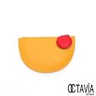 OCTAVIA 8 真皮  - 百寶袋  牛皮半圓撞色零錢包 - 三色可選