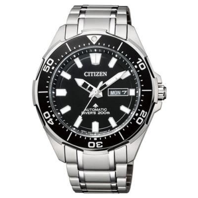 CITIZEN 星辰 PROMASTER經典時尚機械男錶-黑NY0070-83E