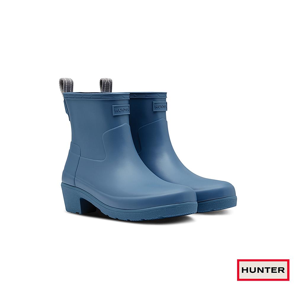 HUNTER - 女鞋 - Refined低跟霧面踝靴 - 灰藍