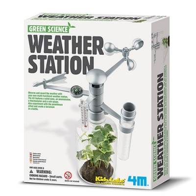 4M綠色科學Weather Station環保氣象台00-03279觀察天氣候溫度溼度風向