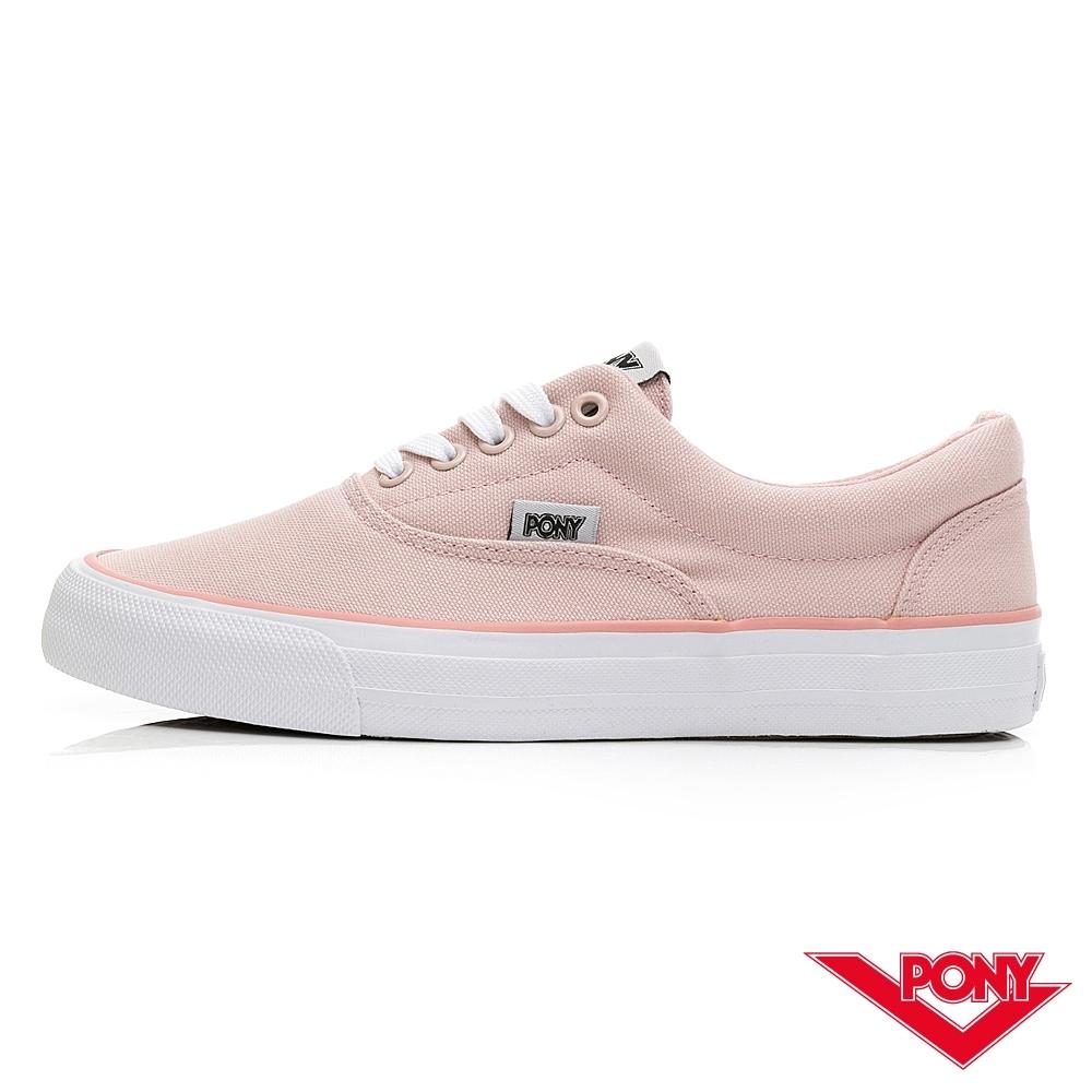 【PONY】SUBWAY-S系列-滑板鞋 帆布鞋-女-粉色