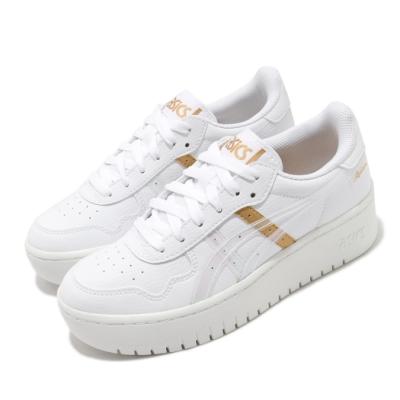 Asics 休閒鞋 Japan S PF 厚底 女鞋 微增高 修飾腿型 白 金 1202A008100