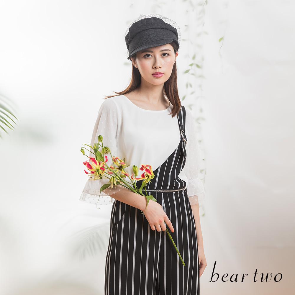 beartwo 浪漫唯美點點網紗公主風造型上衣(二色)