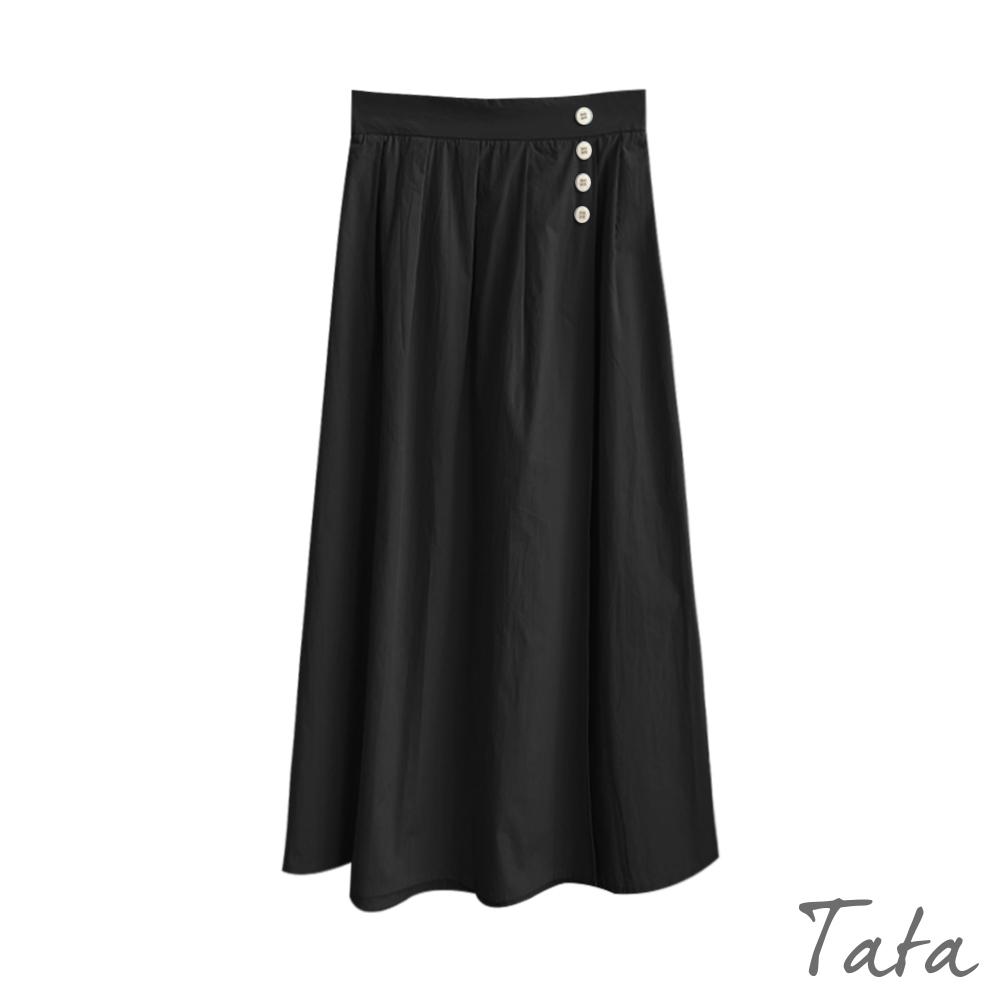 一片裙造型裝飾排釦長裙 共二色 TATA-(M/L) product image 1