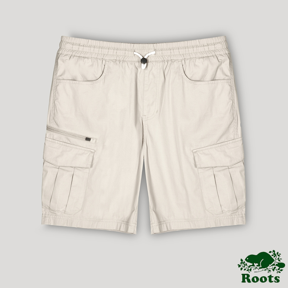 Roots男裝-開拓者系列 工裝短褲-卡其色