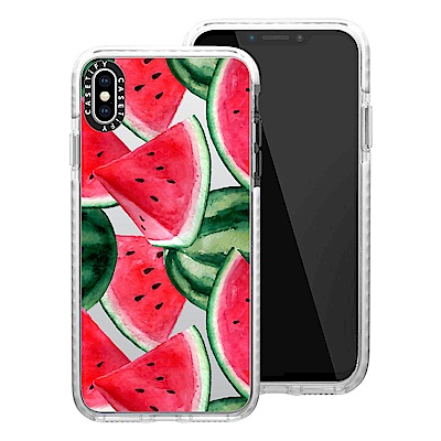 Casetify iPhone XS Max 耐衝擊保護殼-西瓜饗宴
