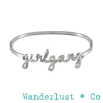 Wanderlust+Co Wanderlust Girlgang 字母手環 - 銀色