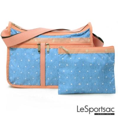 LeSportsac - Standard 雙口袋A4大書包-附化妝包(牛仔點點)