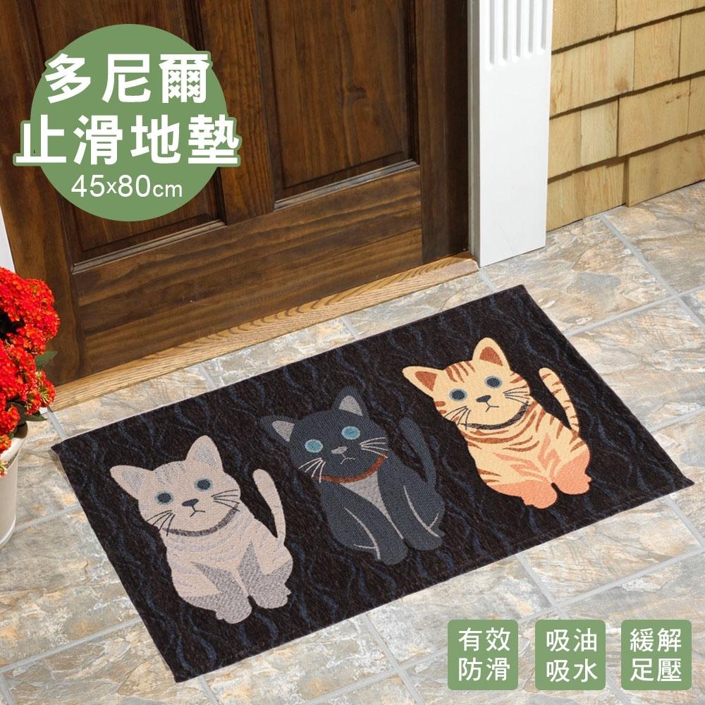 【多尼爾】貓奴止滑地墊45*80cm-S