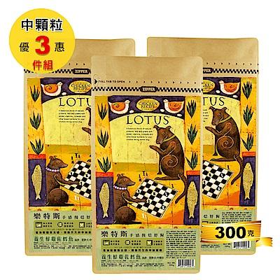 LOTUS樂特斯 養生鮮雞佐沙丁魚-高齡/肥胖犬-中顆粒-300克三件組